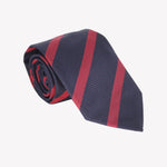 Navy with Red Stripe Tie