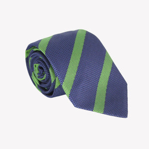 Copy of Blue with Green Stripe Tie