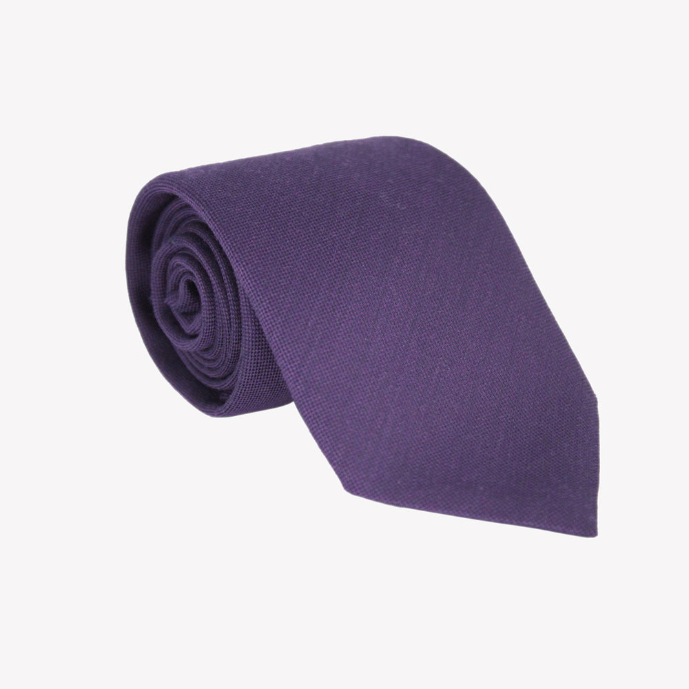 Purple Wool Tie