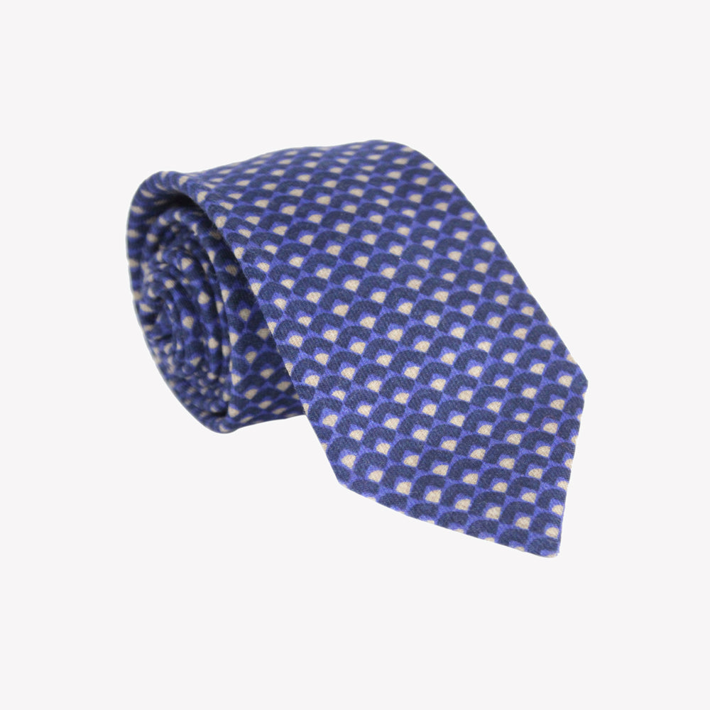 Blue and White Scales Tie