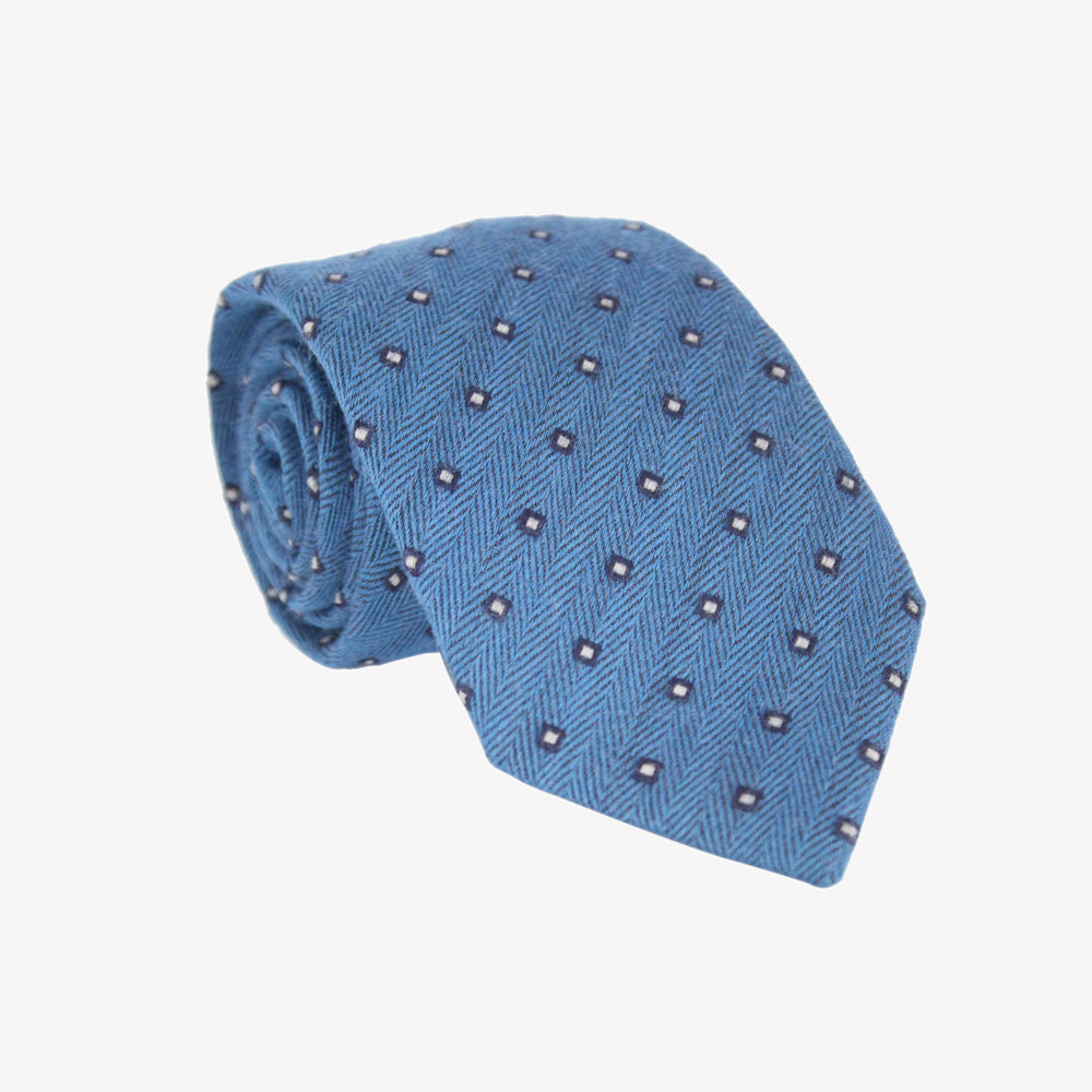 Light Blue with Pin Squares Tie