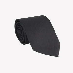 Solid Black Wool Tie