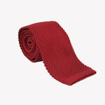 Red Knit Tie