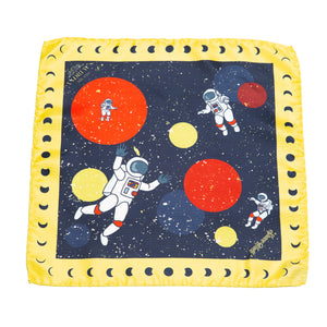 Astronauts Silk Pocket Square