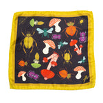 Bugs and Mushrooms Silk Pocket Square