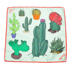Cacti Silk Pocket Square