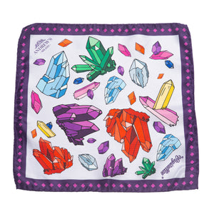 Crystals Silk Pocket Square