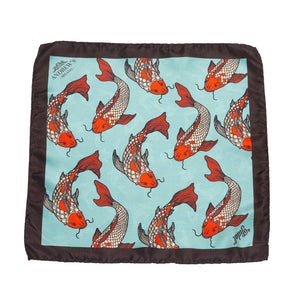 Koi Fish Silk Pocket Square
