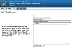 ATF eForm Ask the Experts Walk-Through Guide
