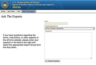 "How to Fix ATF eForm 1 Application Issues - Using the ""Ask the Experts"" for Help"
