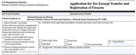 ATF Form 5 - Transferring Tax Exempt to Gun Trusts and Corporations