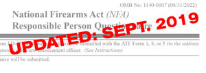 *ATF Updates the ATF 5320.23 Paperwork - September 2019*