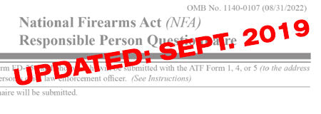 *ATF Updated the ATF 5320.23 Paperwork - September 2019*