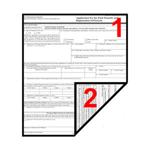 Do ATF Form 1, ATF Form 4 or ATF Form 5 Paperwork need to be printed Double-sided?
