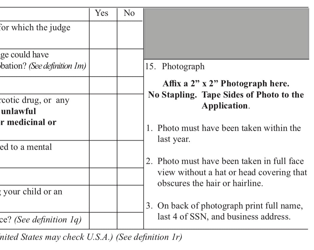 Does your Passport Photo Need your Full Name, Last 4 of SSN