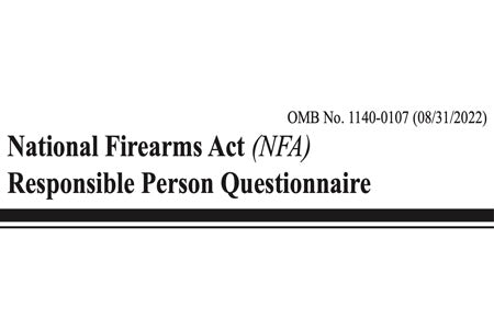 What is the Purpose of the ATF 5320.23 Responsible Person Questionnaire?