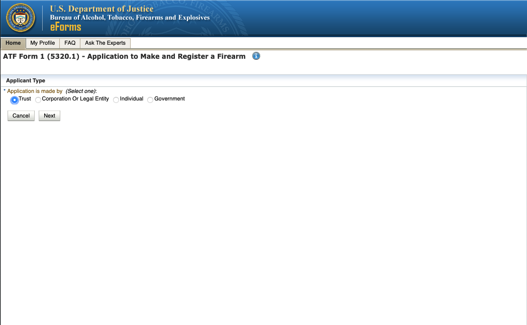 """How to See if a Firearm is """"Already Researched"""" on ATF eForms Website - Step 2"""
