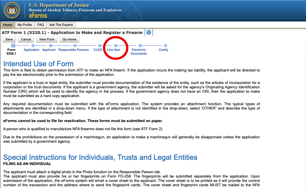 """How to See if a Firearm is """"Already Researched"""" on ATF eForms Website - Step 3"""