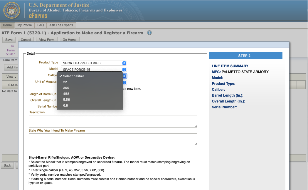 """How to See if a Firearm is """"Already Researched"""" on ATF eForms Website - Step 5b"""