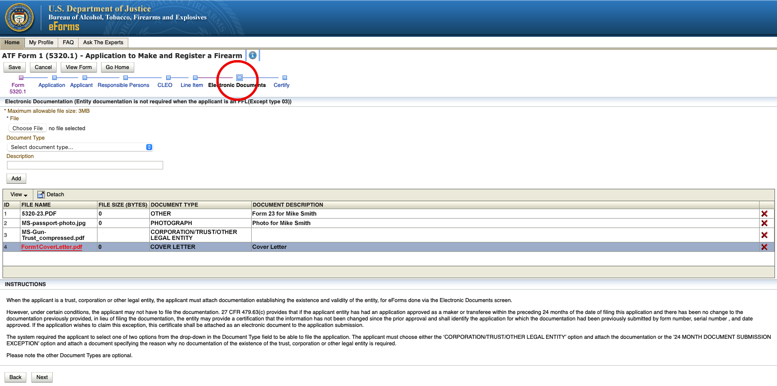 STEP2 How to Find a Missing Cover Sheet on the ATFs eForm Website