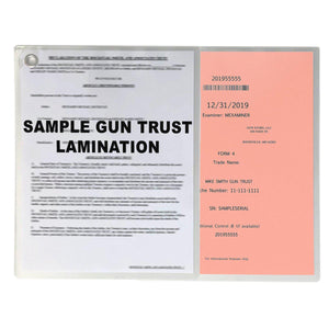 Tax Stamp & NFA Gun Trust Lamination Full Size