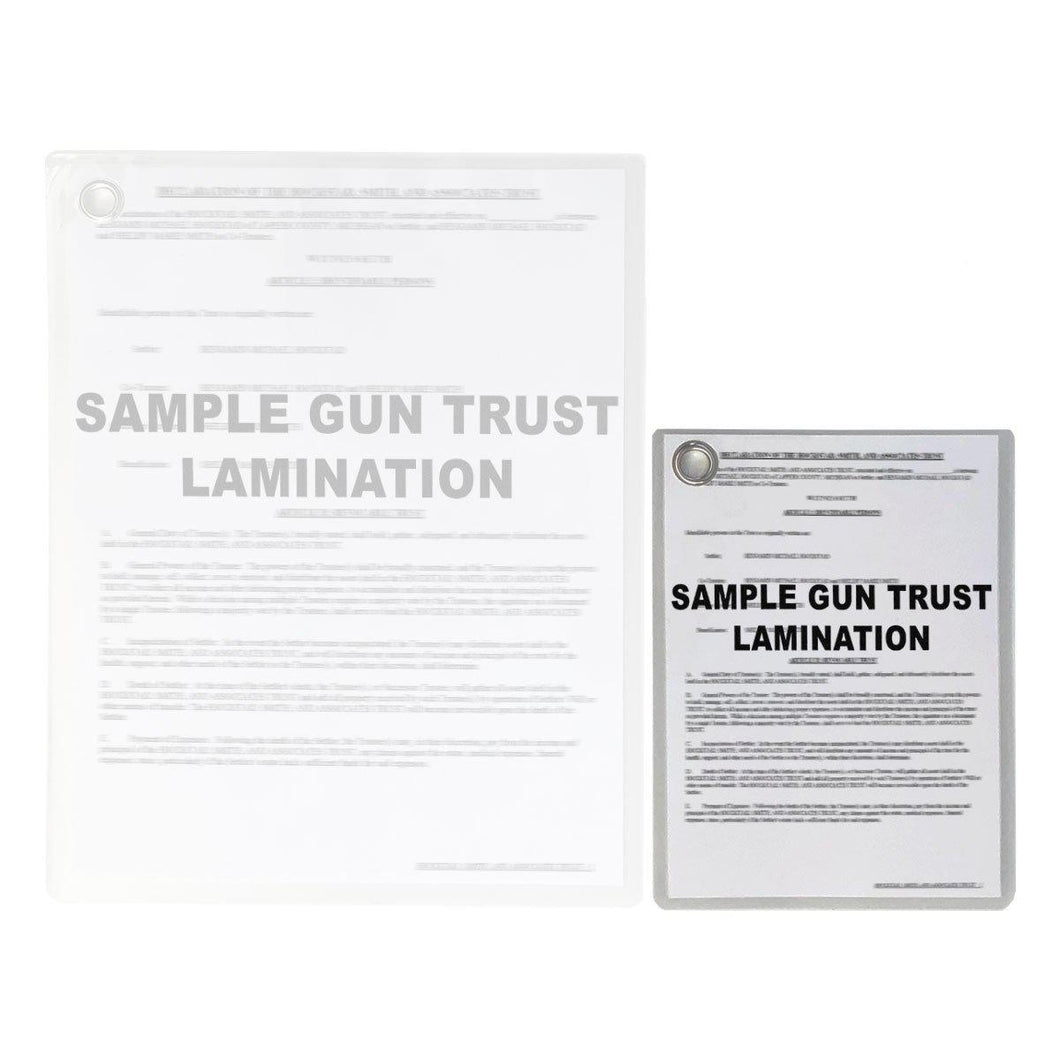NFA Gun Trust Lamination Services Shrunk