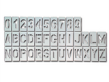 Complete Stencil Set, All numbers and letters included, 4in reusable