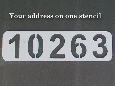 Custom Curb Address Stencil