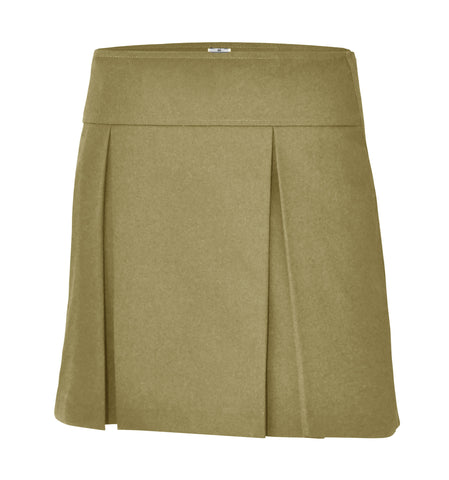Girl's Half-Size Hipster Pleated Twill Skort