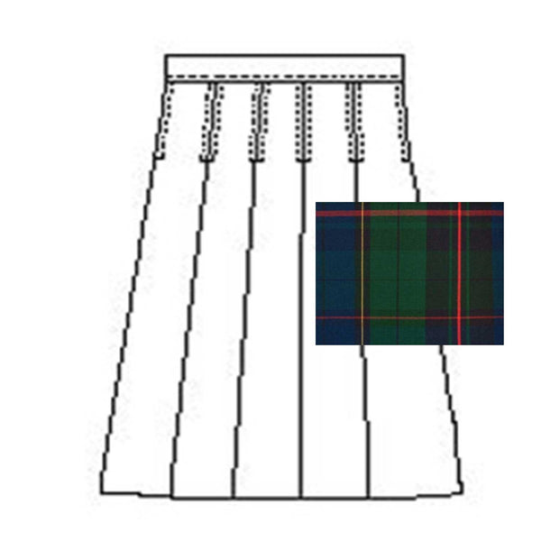 Inspire Academy Girl's Plaid Skirt - Half Size