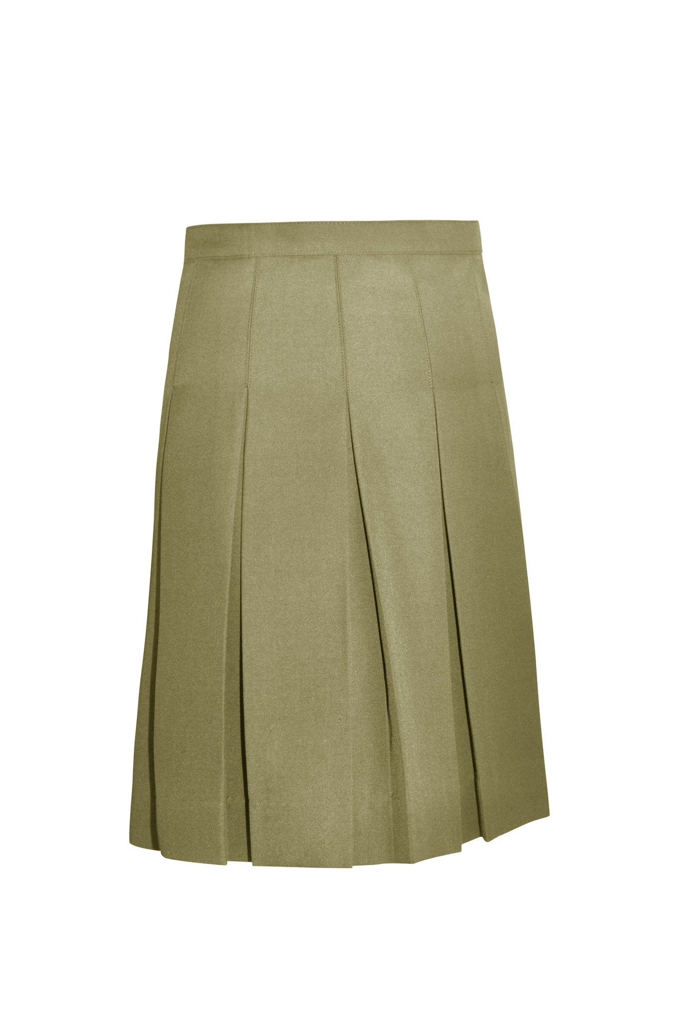 Girl's Pleated Twill Skirt - Half Size
