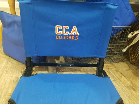Stadium Chair with CCA logo Standard Size