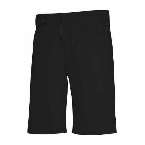 Junior's Mid-Rise Plain Front Flex Twill Shorts