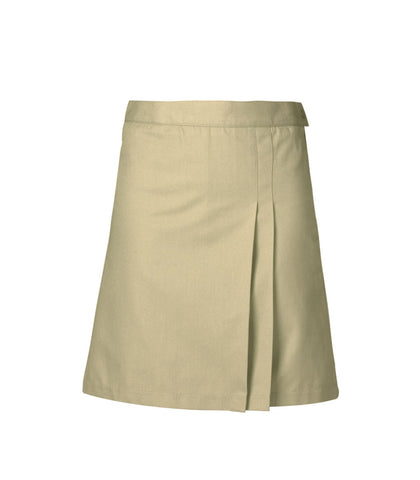 Girl's Double-Pleat Twill Skort - Half Size
