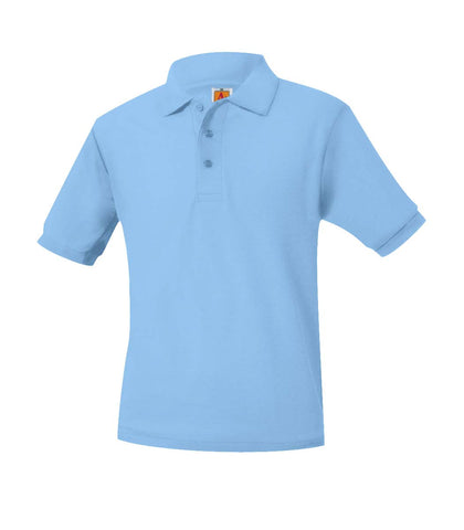WA Lt Blue Youth Moisture Wicking & Pique Polo - SS & LS