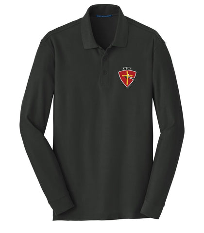 CTCS Youth Long-Sleeve Pique Polo