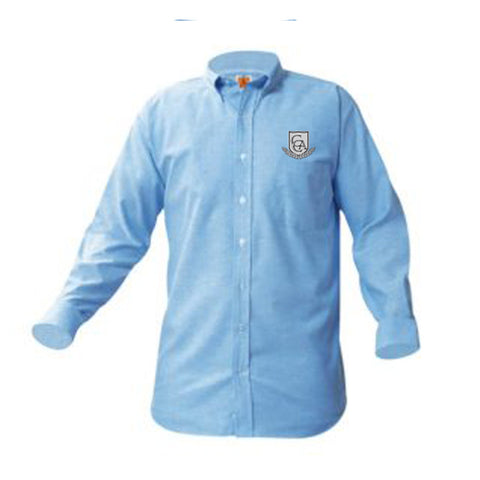 CCA Juniors Blue Long Sleeve Oxford Shirt