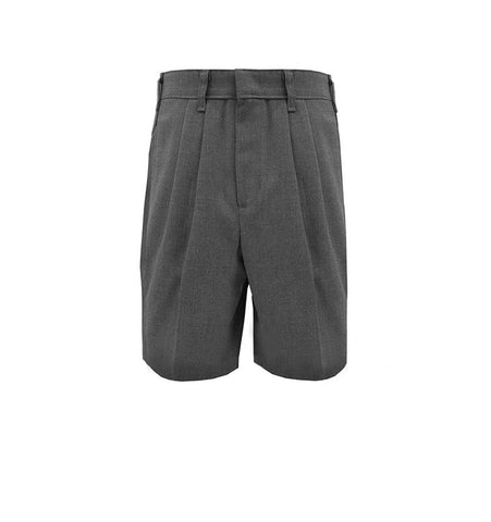 Boy's Husky Pleated Flannel Dress Shorts