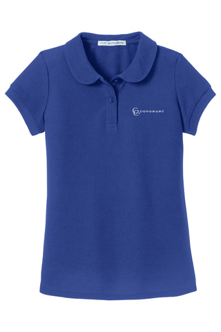 CCA Girl's Short-Sleeve Pique Polo
