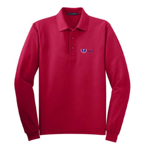 ALA Adult Long-Sleeve Pique Polo