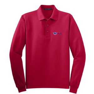 ALA Youth Long-Sleeve Pique Polo