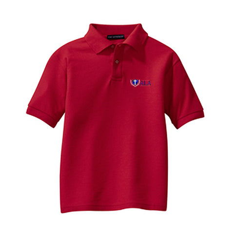 ALA Youth Short-Sleeve Pique Polo
