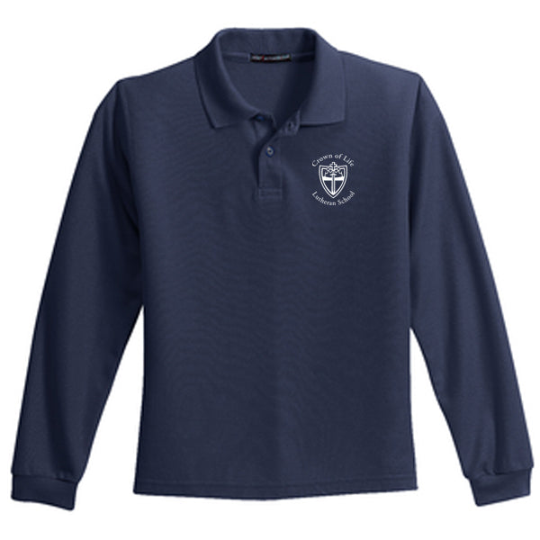 COLLS Youth Long-Sleeve Pique Polo