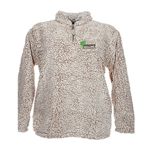 Inspire Academy Adult 1/4-Zip Sherpa Pullover
