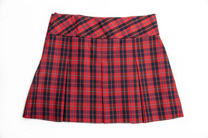 FCS Junior's Wide Band Plaid Skirt