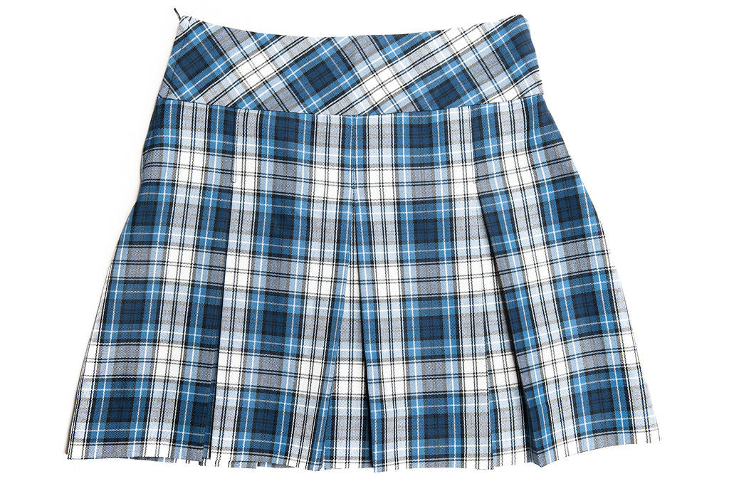 CCA Girl's Wide Band Plaid Skirt