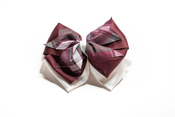WLA Large Plaid 3-Layer Bow