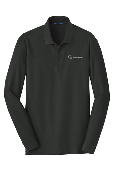 CCA Youth Long-Sleeve Pique Polo