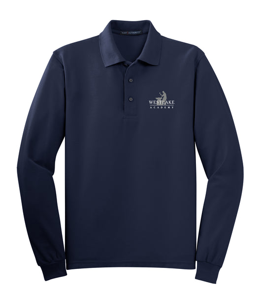 Westlake Academy Youth Long-Sleeve Pique Polo