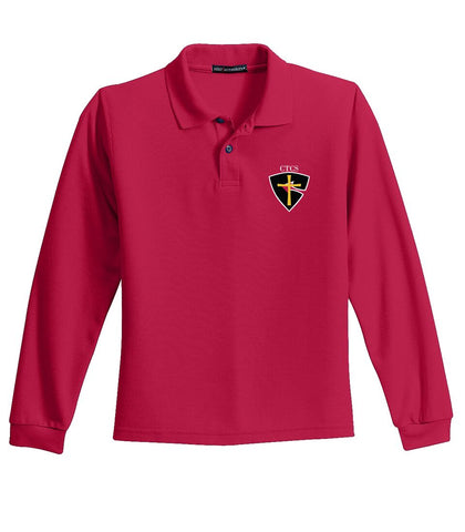 CTCS Adult Long-Sleeve Pique Polo
